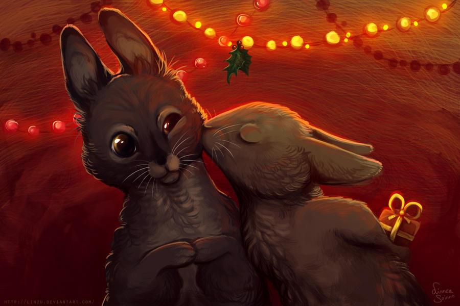 Surprise - Christmas card by Linzu
