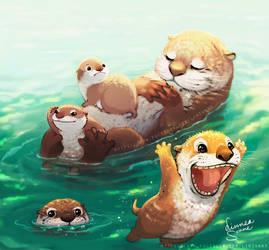 Otter's family trip
