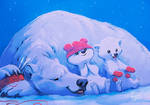 Let's hope cold weathers for polar bears