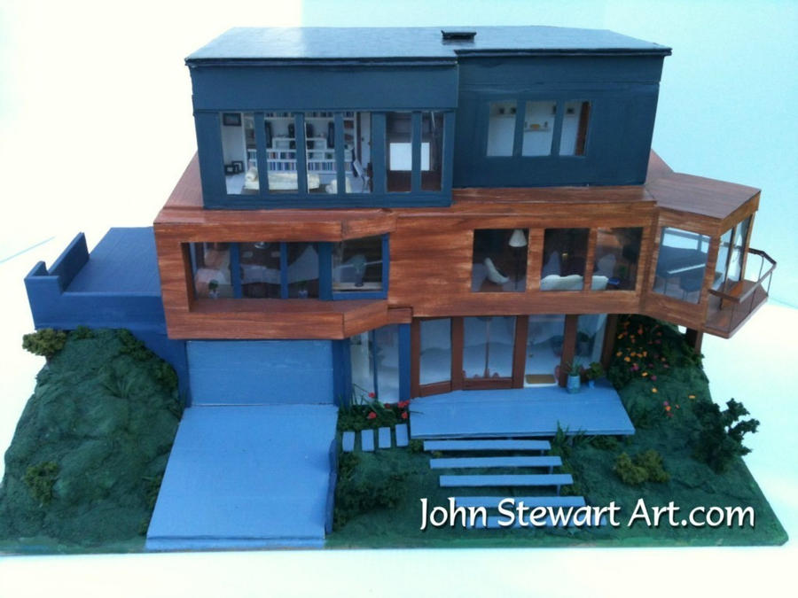 twilight cullen 39 s house scale miniature by johnstewartart