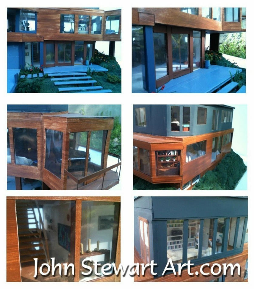 Twilight cullen 39 s house scale miniature by johnstewartart for Edward cullen house