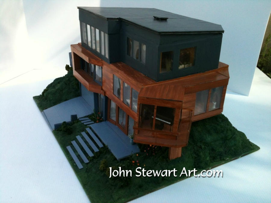 Cullens House From Twilight twilight cullen's house scale miniaturejohnstewartart on