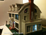 The Amityville Horror house scale model.