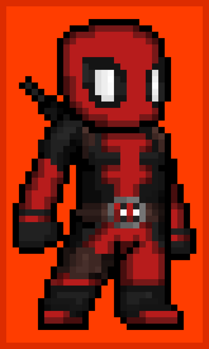 Deadpool Pixel art by Thebenji64