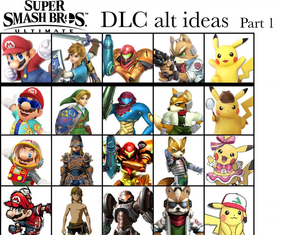 Super Smash Bros Ultimate DLC alt ideas: part 1 by Thebenji64