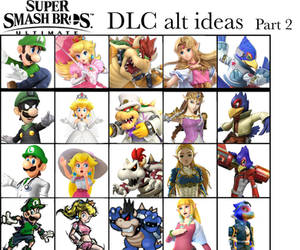 Super Smash Bros Ultimate DLC alt ideas: Part 2 by Thebenji64