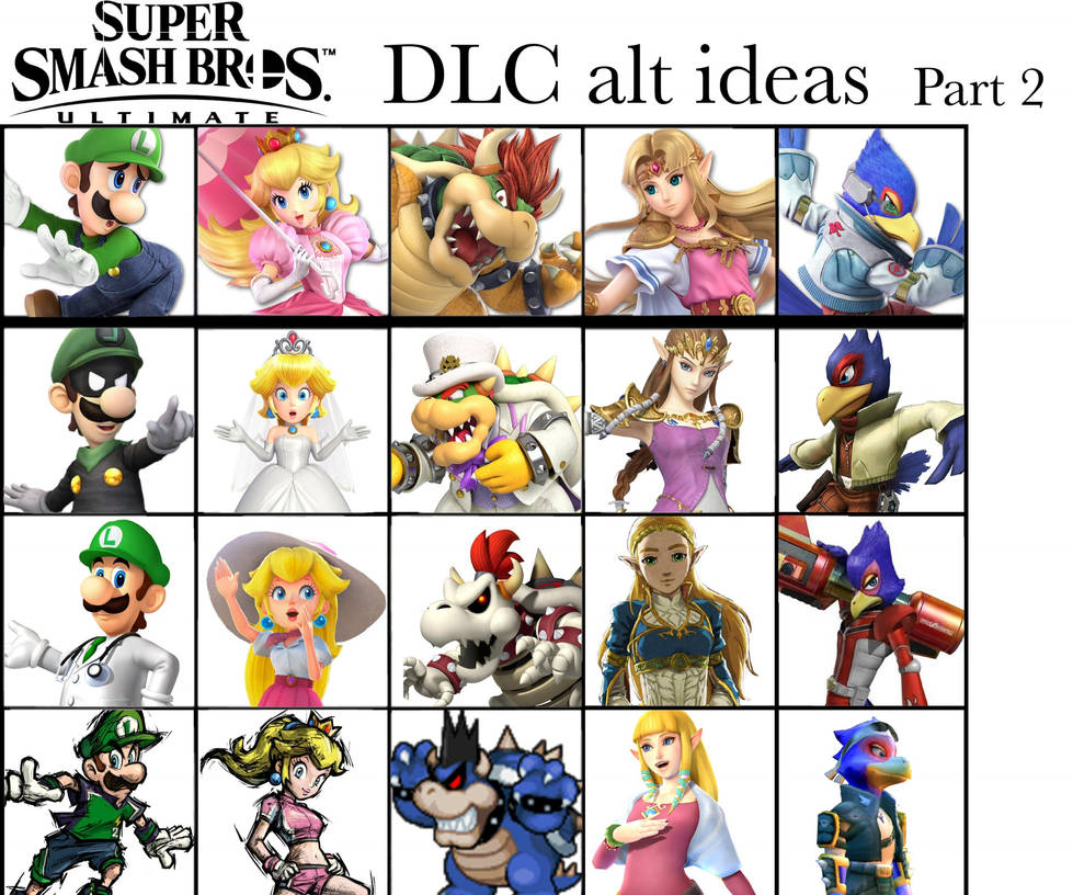 Super Smash Bros Ultimate DLC alt ideas: Part 2 by Thebenji64 on