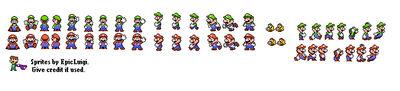 Mario and Wario - Custom Luigi Sprites