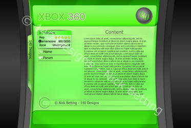 WIP - Xbox 360 Dashboard by S1h4d0w