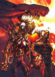 Amazon and Dragon by kiwine