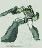 Optimus Prime Sketch by kiwine