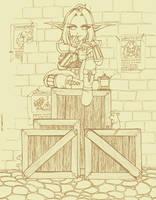 WoW: Wanted Woman :lineart: by yanagi-san