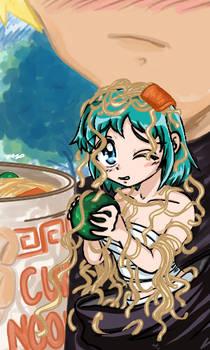 Midori vs Cup Noodle
