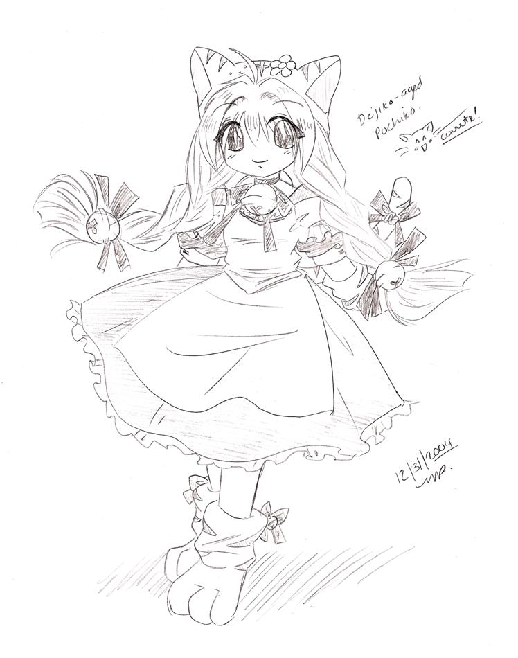 Petit Charat All-growed up by yanagi-san on DeviantArt