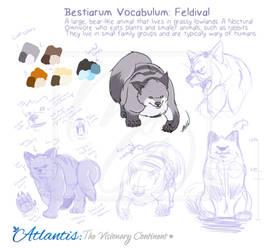 Bestarium Vocabulum: Feldival by yanagi-san