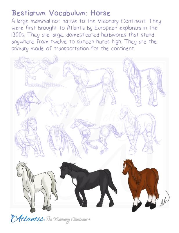 Bestiarum Vocabulum: Horse by yanagi-san