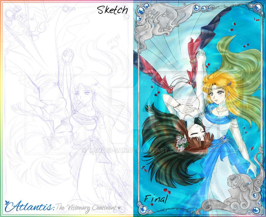 Volume 2 Cover Progression by yanagi-san