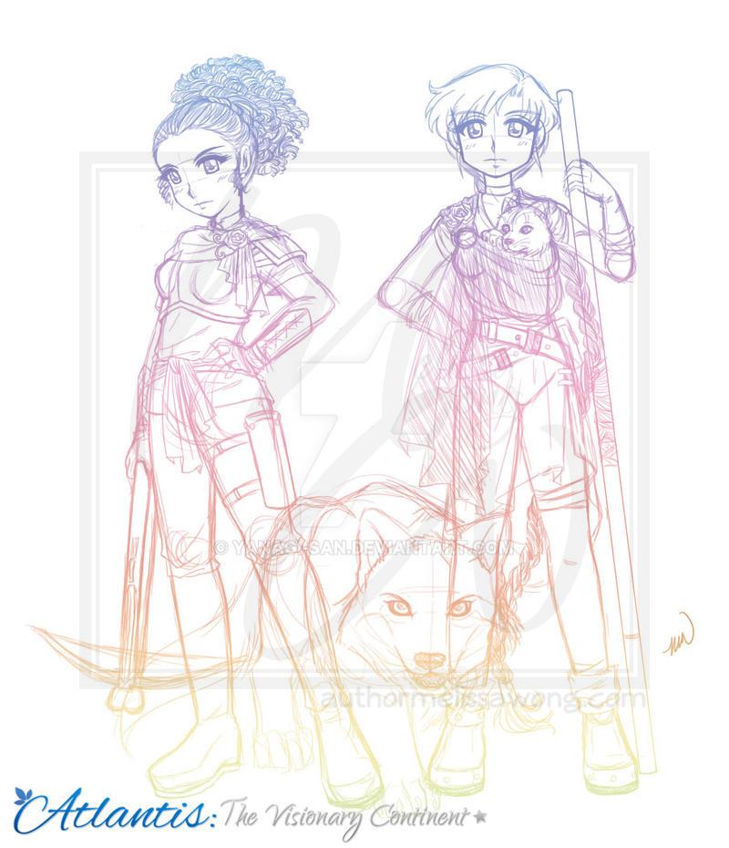 Vis, Tera, Mika, and Rama [Sketch] by yanagi-san