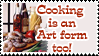 Cooking is Art Stamp by yanagi-san