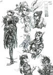 Overwatch Doodles by DeathMcHandsome
