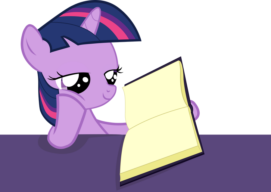 Filly Twilight Studying by PinkiePi314