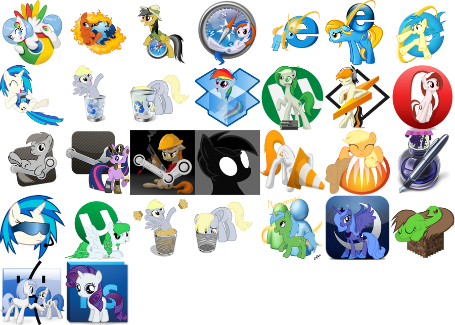 Pony Icon Pack by PinkiePi314