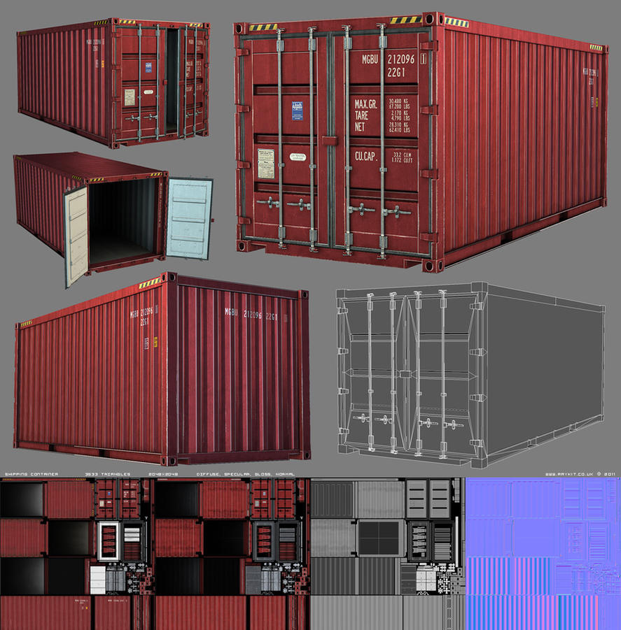 3d Game Shipping Container By Raykitshum On Deviantart