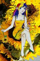 In Her Field of Sunflowers by lunalove2