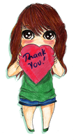 300 watchers THANKS by lunalove2