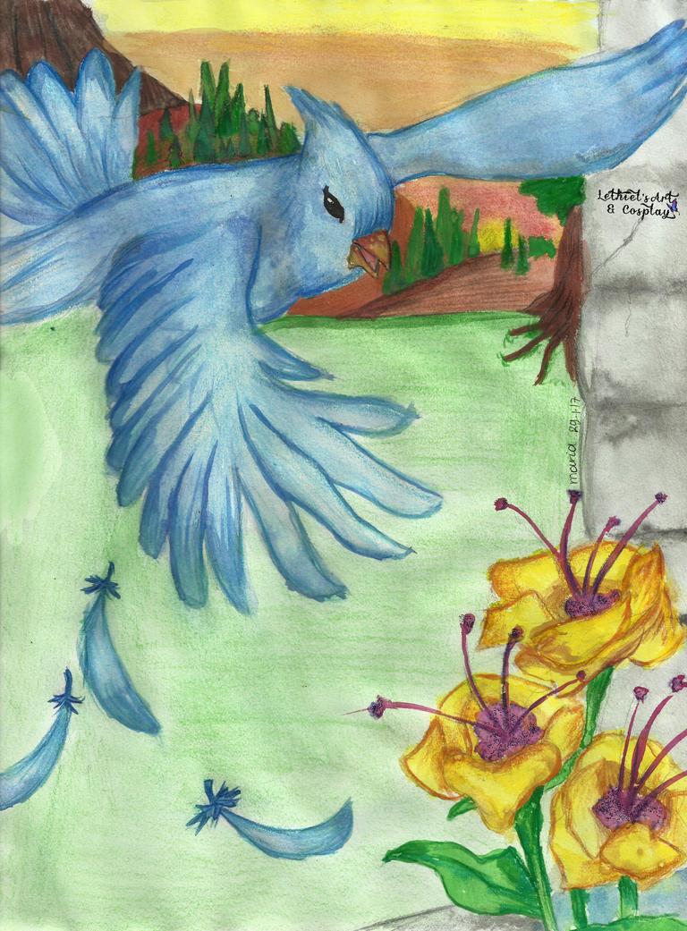 Light Blue Bird by lunalove2