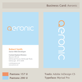 Aeronic Business Cards by Naryana