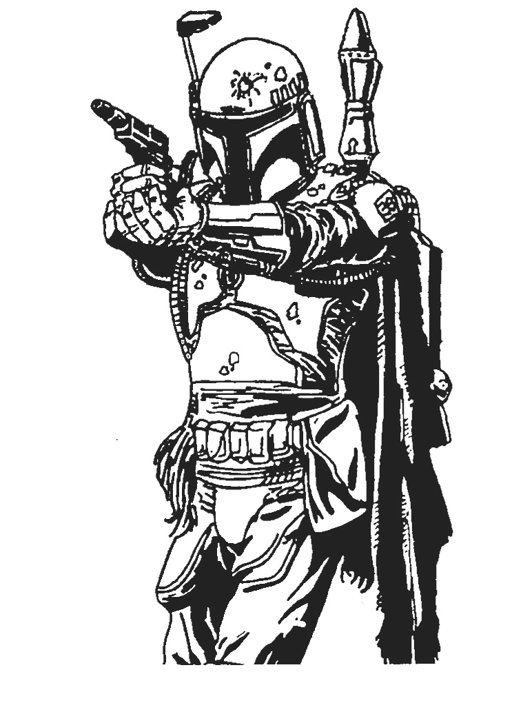 Boba Fett sketch by archie321