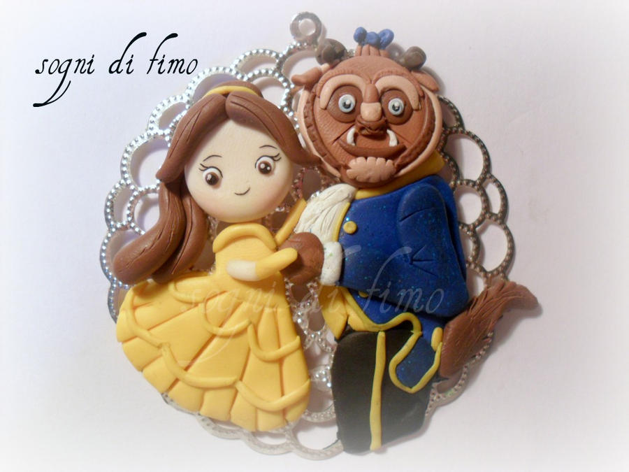 FIMO The beauty and the beast by SogniDiFimoCReazioni