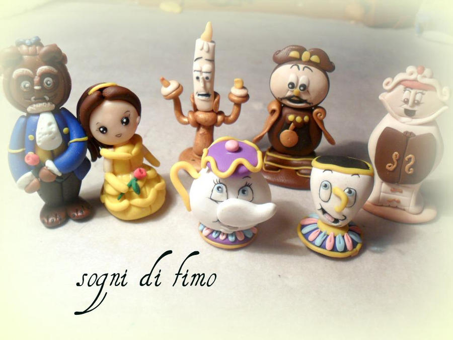 All the characters from Beauty and the Beast by SogniDiFimoCReazioni