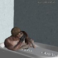 WeskerXClaire - Bubble Cuddle by IamAlbertWesker