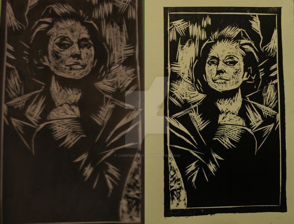 Marion Cotillard Original Plate And Print by chippmunk97