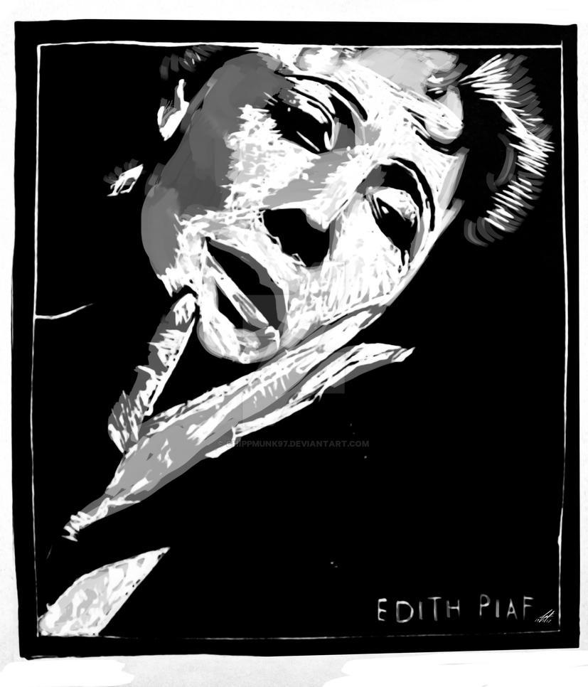 Edith Piaf Print by chippmunk97