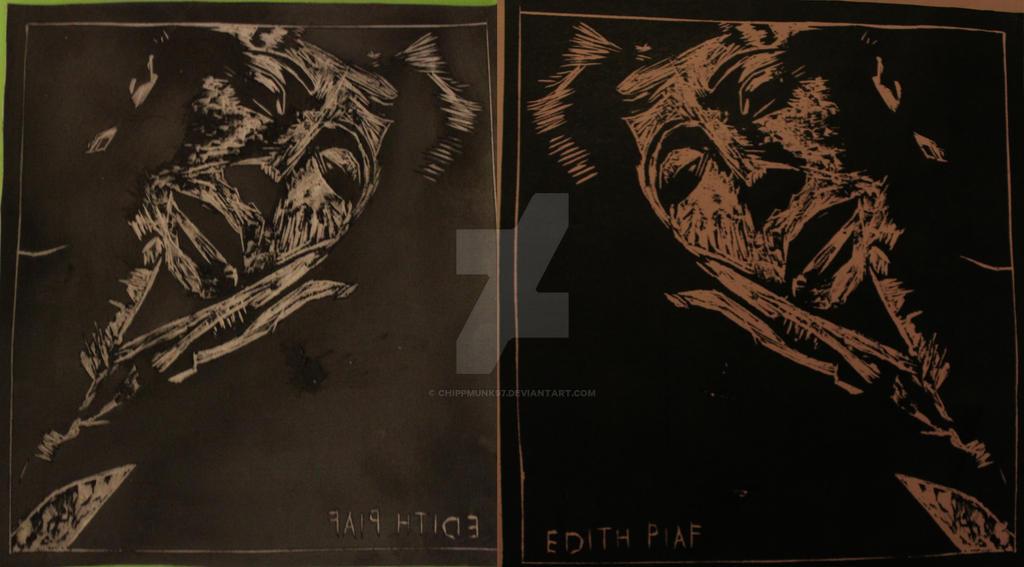 Edith Piaf Original Print And Plate by chippmunk97