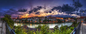 Sunset At Steyr by Saber1705
