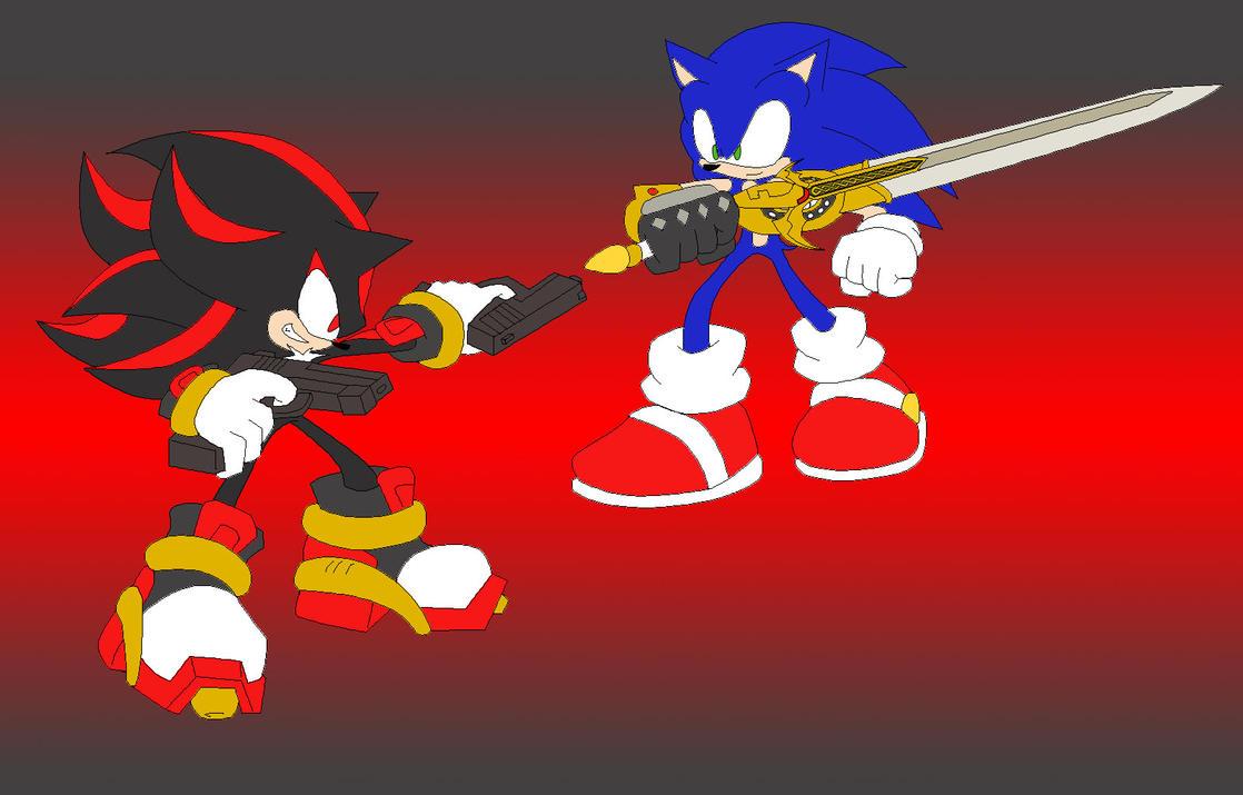 Sonic VS Shadow: GUNZ VS SWORD by RX-BlackHowling on ...