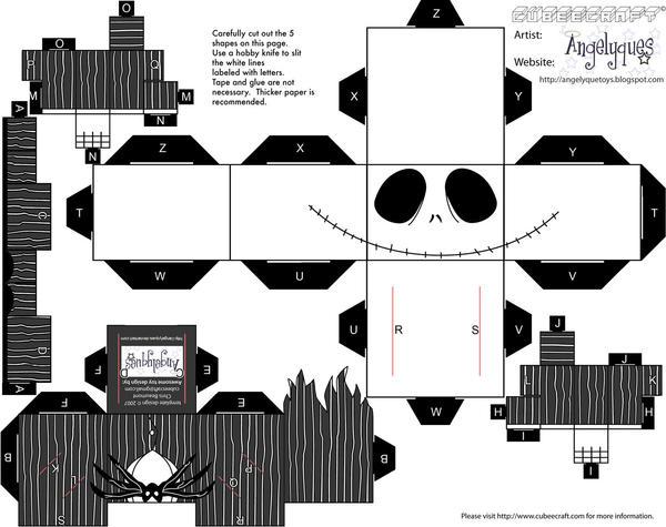 Jack Skellington paper craft by Raza5