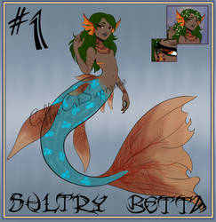 Auction - Adopt #1 - Sultry Betta Merman [OPEN] by CoffeeCatSupreme