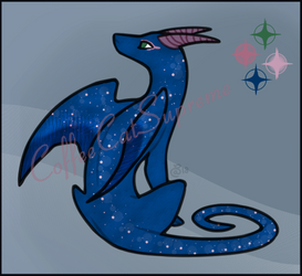 Auction - Adopt - Sitting Dragon - #001 [OPEN] by CoffeeCatSupreme