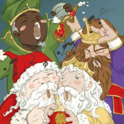 Santa y los Reyes Magos by Acard