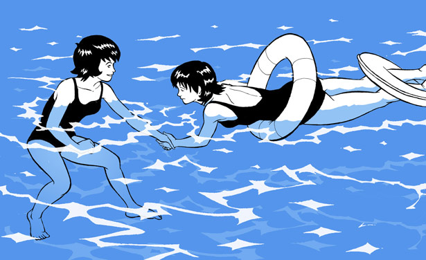 Swimming women by Acard
