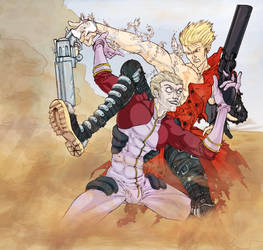Trigun: Vash the Stampede vs Knives by Acard