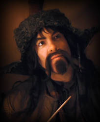 Bofur Pondering Bilbo by wicked-fox