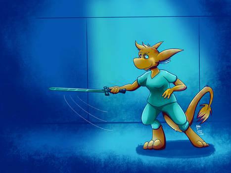 Dia sword practice