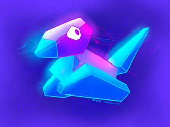 Glowing Porygon!