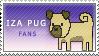 Iza Pug Fans -Stamp by IzaPug